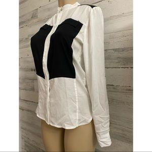 Kenneth cole long sleeve women bottom blouse new